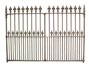 A Pair of Wrought Iron Driveway Gates