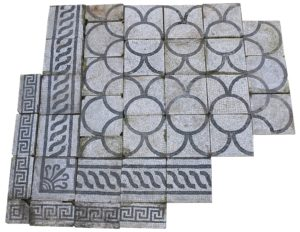 An Italian Romanesque Marble Mosaic Floor or Pavement