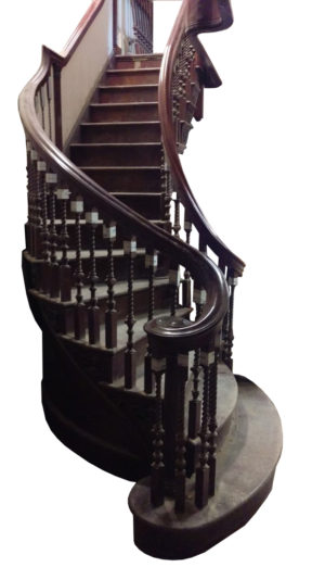 A Reclaimed George III Mahogany Staircase