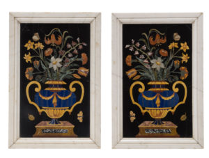 A Pair of Large Antique Italian Pietra Dura Panels, after Corbarelli