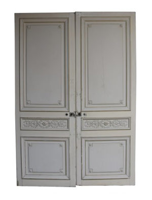 A Pair of Decorated Antique Room Dividing Doors
