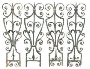 A Set of Ten Georgian Wrought Iron Staircase Balustrades