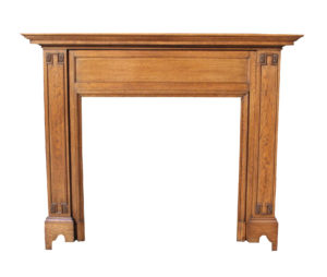 An Edwardian Oak Fire Surround