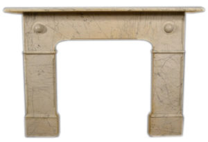 A Victorian Carrara Marble Fire Surround