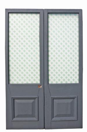 A Set of Antique Mahogany Glazed Double Doors
