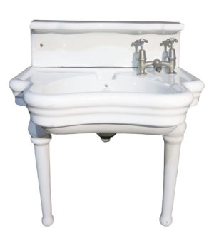 A Rare English Barber Shop Wash Basin or Sink