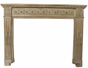 An Antique Wooden Fire Surround