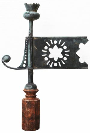 An Antique Scottish Copper Thistle Weathervane
