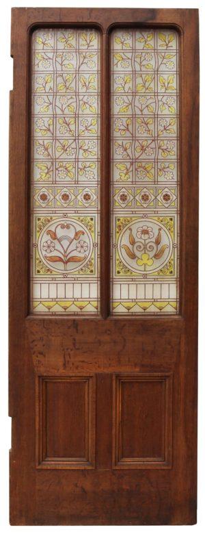 An Antique Glazed Oak Door