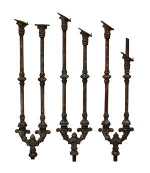 A Set of 39 Victorian Cast Iron Staircase Balustrades