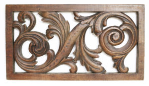 An Antique Carved Oak Panel