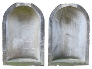 A Magnificent Pair of Antique Marble Statue Niches