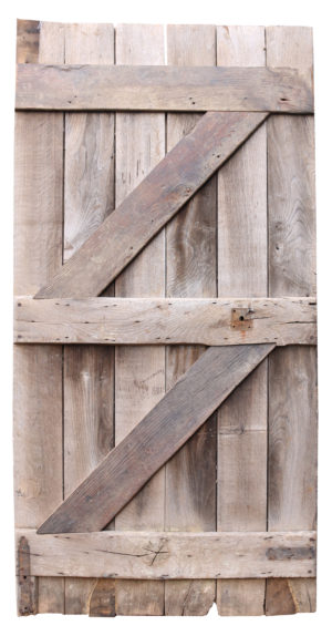An Antique Oak Rustic Farmhouse Plank Door