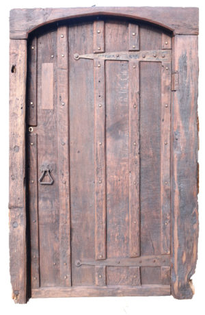 An 18th Century Rustic Oak Exterior Door and Frame