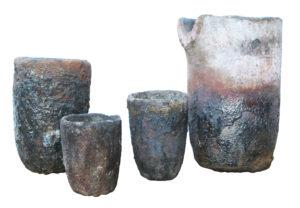 A Set of Four Foundry Crucibles