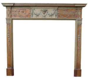 A George III Carved Pine Fire Surround In The Adam Style