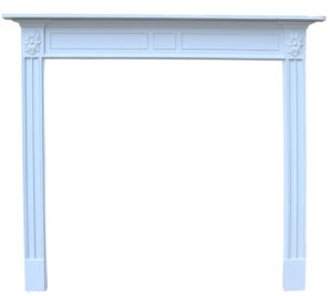 A Georgian Style Painted Pine Fire Surround