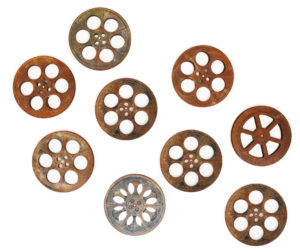 A Collection of Vintage Cinema Projection Reels or Spools