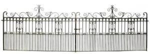 A Set of Antique Wrought Iron Driveway Gates 5.5 m (18 ft)