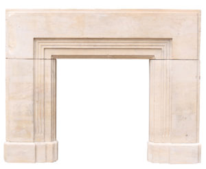 A Reclaimed Bath Stone Fireplace