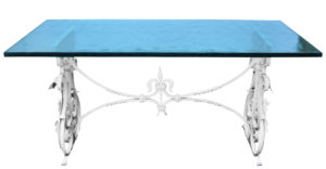 A Wrought Iron Conservatory or Garden Table