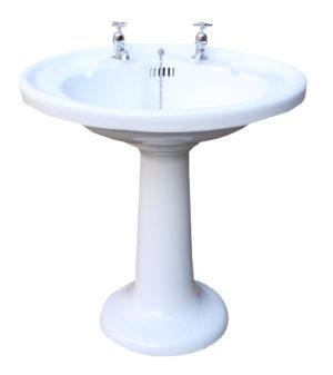 A Reclaimed Shanks Pedestal Basin or Sink