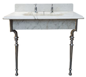 A Reclaimed Antique Marble Wash Basin or Sink