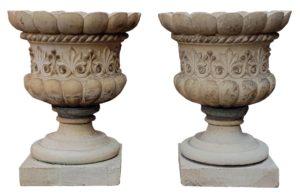 A Pair of Fine Pulham & Son Stoneware Urns