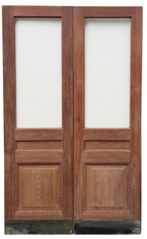 Antique Glazed Teak Double Doors