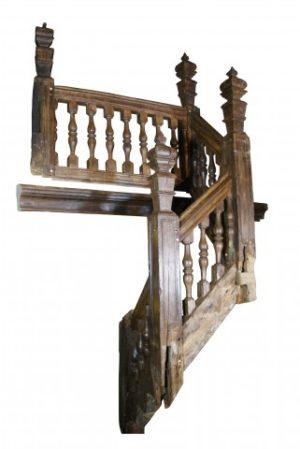 A Tudor Oak Staircase Circa 1560-1580