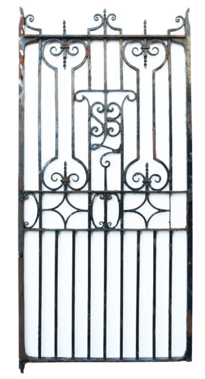 An Antique English Wrought Iron Garden or Pedestrian Gate