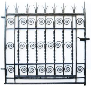 A Georgian Wrought Iron Pedestrian Gate