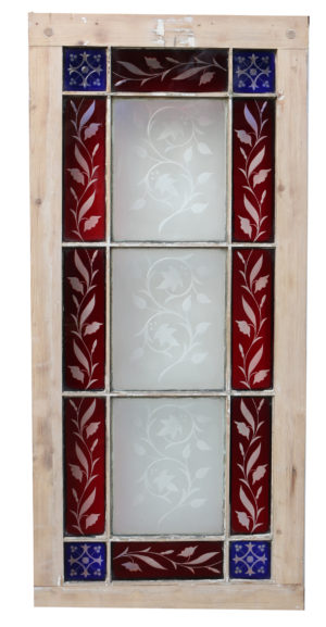 An Antique English Stained Glass Window
