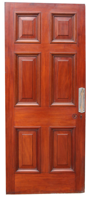 An Antique Mahogany Six Panel Door