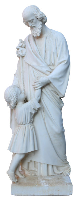 An Antique Plaster Sculpture or Statue of St. Anthony
