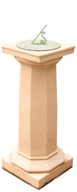 A Glazed Ceramic Lefco Sundial