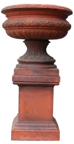 An Antique Terracotta Garden Urn Centerpiece