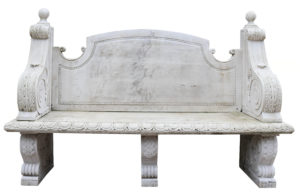 A Reclaimed Carved Marble Bench or Garden Seat