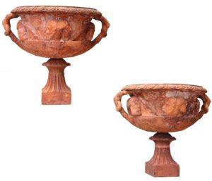 A Pair of Antique John Matthews Terracotta Vases
