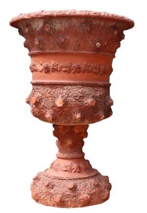 An Antique Terracotta Garden Urn Planter