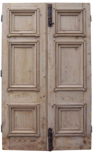 Antique Exterior Pine Double Doors