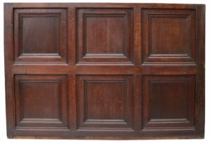 An English Jacobean Oak Panel or Headboard