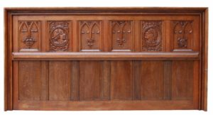 An Antique Jacobean Revival Carved Oak Panel