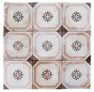 Reclaimed Patterned Encaustic Cement Floor Tiles 6.5 m2 (70 sq ft)