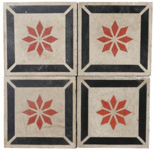 Reclaimed Patterned Encaustic Floor Tiles 2.6 m2 (28 sq ft)