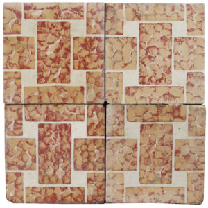 Reclaimed Geometric Encaustic Cement Floor or Wall Tiles 7.6 m2 (81 ft2)