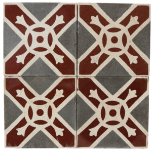 Reclaimed Patterned Encaustic Floor Tiles 6.1 m2 (65 sq ft)