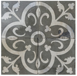 Reclaimed Patterned Encaustic Floor Tiles 5.64  m2 (60 sq ft)