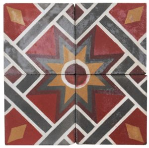 Reclaimed Geometric Floor Tiles 4 m2 (43 sq ft)