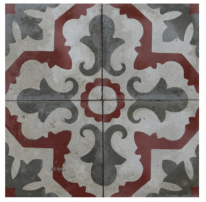 Reclaimed Patterned Encaustic Floor Tiles 4.2 m2 (45 ft2)